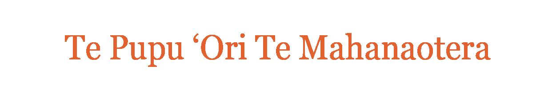Te Pupu 'Ori Te Mahanaotera